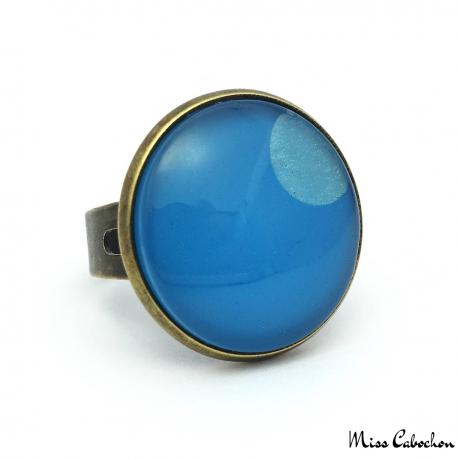 Bague Camaïeu bleu