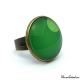 Green camaieu ring