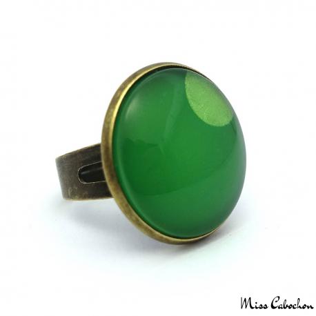 Bague Camaïeu vert