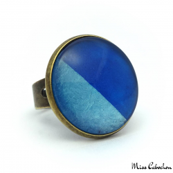 Blue fancy ring