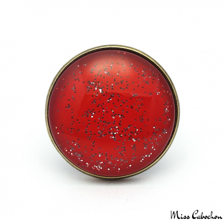 Glitter red ring