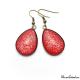 Boucles d'oreille en goutte rouges à paillettes