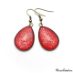 Glitter red teardrop earrings
