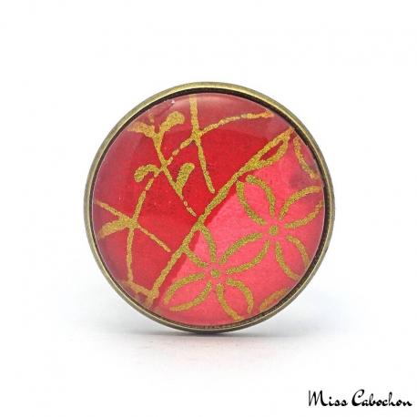Red fashion ring