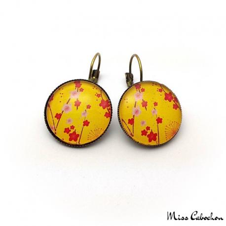Round earrings - Japanese inspiration