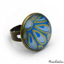 Blue japanese ring