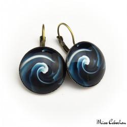 """""""Blue swirl"""" earrings"""