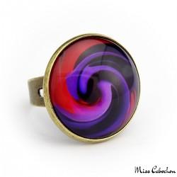 """Fuchsia rosea"" ring"