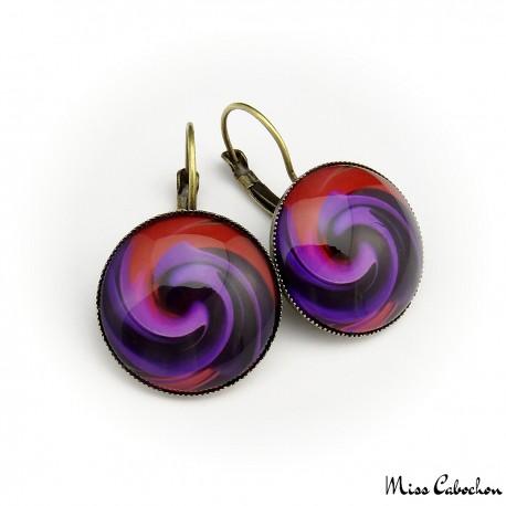 """Fuchsia rosea"" earrings"