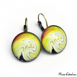 """Stellar wave"" earrings"