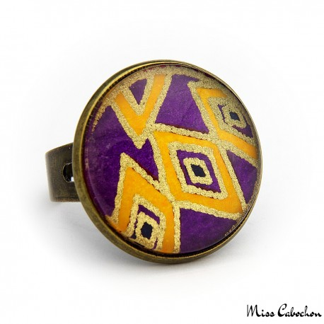Geometric patterns ring - Japanese inspiration