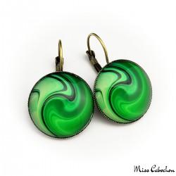 """Boucles d'oreille """"A la poursuite diamant vert"""""""