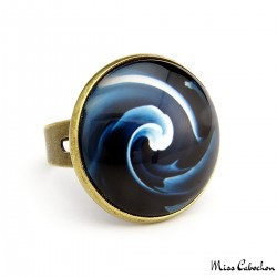 """Blue swirl"" ring"