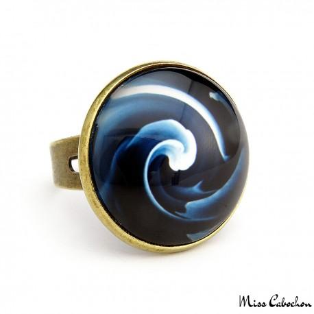 "Bague ""Blue swirl"""