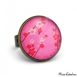 Cabochon ring - Floral inspiration