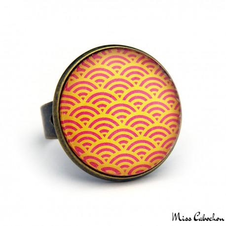 Bague à motifs japonais traditionnels