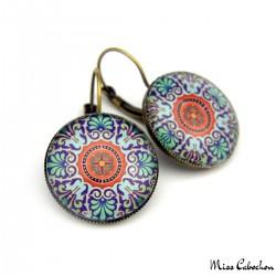 """Drop earrings """"Ceramic 18th century"""""""