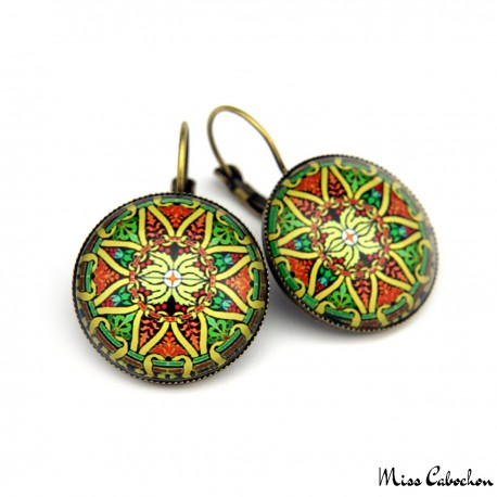 "Drop earrings ""Celtic"""