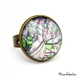 "1900s style jewelry ""May by Alfons Mucha"""