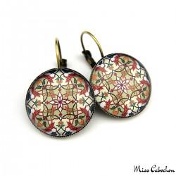 """Drop earrings """"Eastern earthenware"""""""