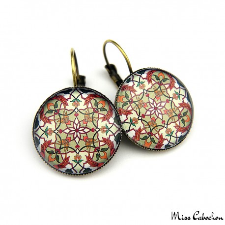 "Drop earrings ""Eastern earthenware"""