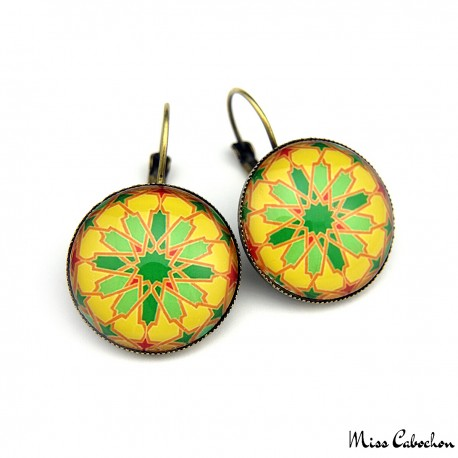 "Drop earrings ""Arab mosaic"""