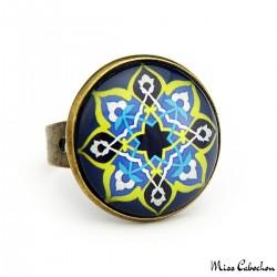 """Blue oriental"" ring"