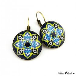 """""""Blue oriental"""" earrings"""