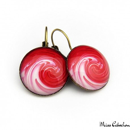 """Red cloud"" earrings"