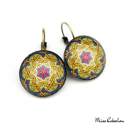 """Persian arabesque"" earrings"