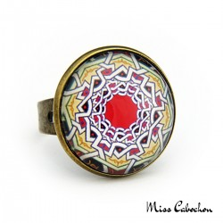 """Moroccan tray"" ring"