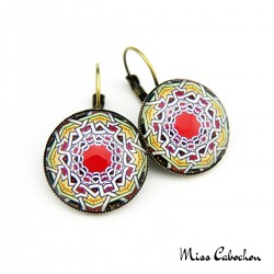 """Moroccan tray"" earrings"