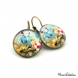 "Drop earrings ""Butterfly"""