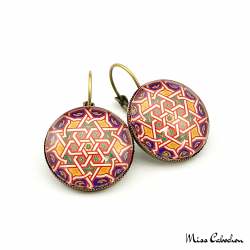 "Earrings ""Islamic Tiles"""