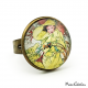 "Roaring Twenties style ring ""February by Alfons Mucha"""