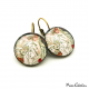 "Antique style earrings ""March by Alfons Mucha"""