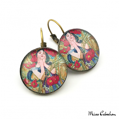 "Art nouveau style jewelry ""August by Alfons Mucha"""
