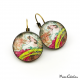 """Boucles d'oreille Art nouveau """"Novembre par Alfons Mucha"""""""