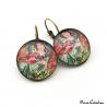 "Art deco earrings ""December by Alfons Mucha"""