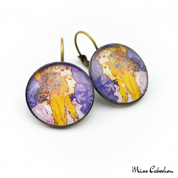 "Round earrings ""Byzantine"" - Art Nouveau collection"