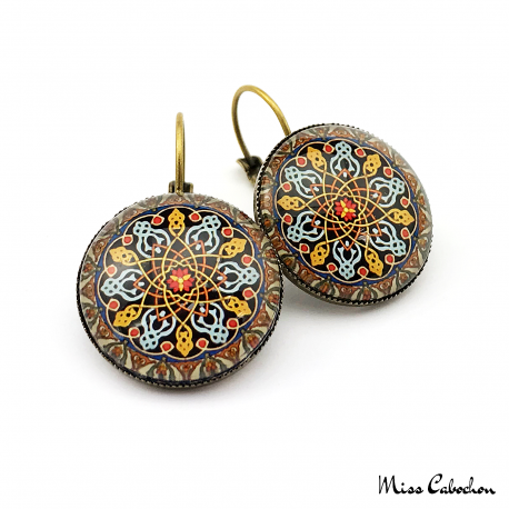 """Persian patterns"" earrings"