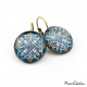 """Blue arabesque"" earrings"