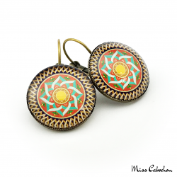 Boucles d'oreille à motifs arabo-hispaniques