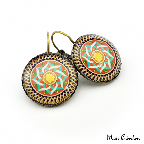 "Earrings ""Islamic Tiles"""