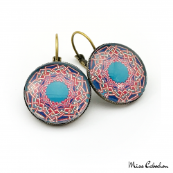 Boucles d'oreille à motifs arabes