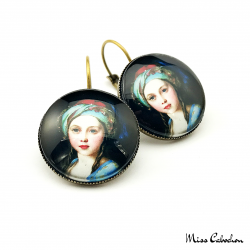 "Round earrings ""Princess Victoria"""