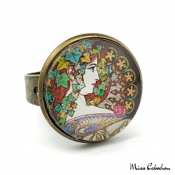 "Ring ""Laurel"" - Art Nouveau collection"