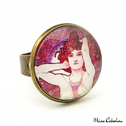"Ring ""Amethyst"" - Art Nouveau collection"