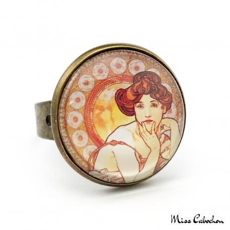 """Bague Art déco """"Topaze"""" - Collection Art Nouveau"""