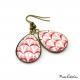 Teardrop earrings - Art deco collection - Camaïeu de rouges